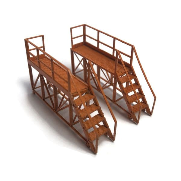 LX446-OO Portable Locomotive Access Platforms (Pack of 2) - OO/4mm/1:76